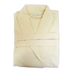 Diamond Waffle Robe with Shawl Collar - Beige 100% Cotton Waffle Inside & Outside (2WSXXBG)