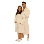 Terry Kimono Robe - Beige 100% Cotton Terry Cloth Inside & Outside (2TKXXBG)