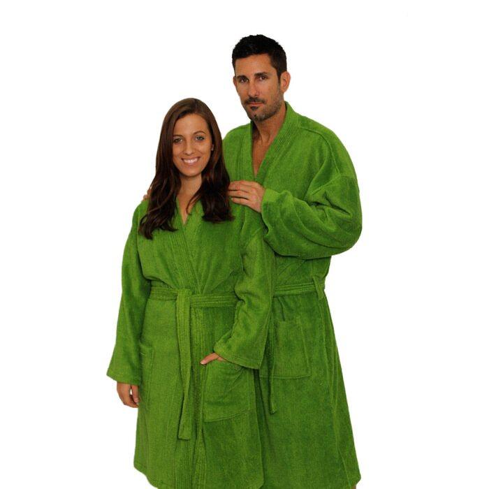 Terry Kimono Robe - Apple Green 100% Cotton Terry Cloth Inside   Outside  (2TKXXPG 3417fb19d