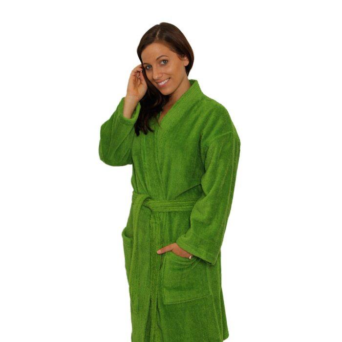 6a6c64c53f Terry Kimono Robe - Apple Green 100% Cotton Terry Cloth Inside ...