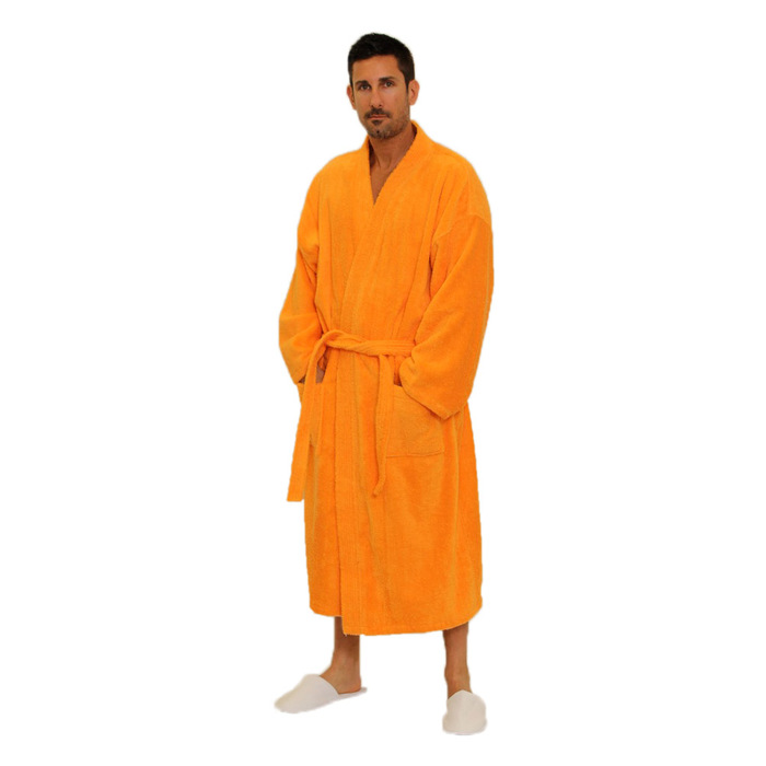 2a146dce8298 Terry Kimono Robe - Orange 100% Cotton Terry Cloth Inside   Outside ...