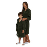 Kid's Terry Hooded Robe - Charcoal 100% Cotton Terry Cloth Inside & Outside (2KTXXCL)