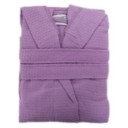 Kid's Waffle Hooded Robe - Lilac 100% Cotton Waffle Cloth Inside & Outside (2KWXXLI)