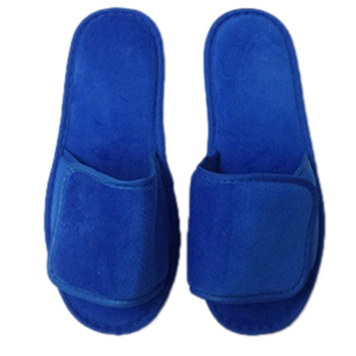 0207b742f Unisex Open Toe Velour Velcro Slippers - Royal Blue 100% Absorbent Top  Quality Natural Cotton