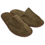 Unisex Closed Toe Terry Velour Slippers - Dark Chocolate 100% Cotton Terry Velour (3TV20DC)