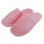 Unisex Closed Toe Terry Velour Slippers - Pink 100% Cotton Terry Velour (3TV20PI)