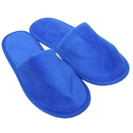 Unisex Closed Toe Terry Velour Slippers - Royal Blue 100% Cotton Terry Velour (3TV20RY)