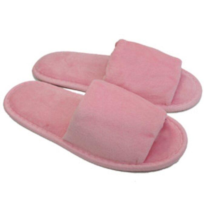 371e7194021 Unisex Open Toe Terry Velour Slippers - Pink 100% Cotton Terry Velour  (3TV10PI)