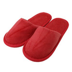 Kid's Closed Toe Terry Velour Slippers - Red 100% Absorbent Top Quality Natural Cotton (3KV21RE)