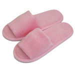 Kid's Open Toe Terry Velour Slippers - Pink 100% Absorbent Top Quality Natural Cotton (3KV11PI)
