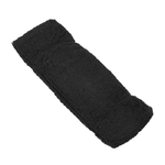 "Elastic Terry Headbands - Black 100% Terry Cotton with Elastic - 2.5""X 7"" 1 Dozen (5HB30BK)"