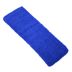 "Elastic Terry Headbands - Royal Blue 100% Terry Cotton with Elastic - 2.5""X 7"" 1 Dozen (5HB30RY)"