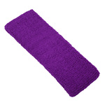 "Elastic Terry Headbands - Purple 100% Terry Cotton with Elastic - 2.5""X 7"" 1 Dozen (5HB30PR)"