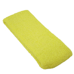 "Elastic Terry Headbands - Yellow 100% Terry Cotton with Elastic - 2.5""X 7"" 1 Dozen (5HB30YL)"