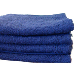 "Salon Towel - 1 Dozen - 16"" x 27"" - Blue 100% Natural Cotton (1ST10BL)"