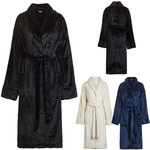 Micro Fleece Shawl Robe - Available in Black Beige or Navy Blue (TM800XXX)