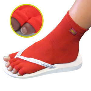 Pedisavers Individual Toe Pedicure Socks Red Anklet (PediSavers-ARD-006)