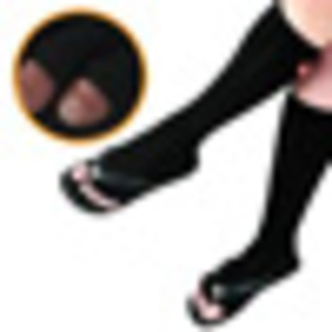 Pedisavers Individual Toe Pedicure Socks Black Full Length (PediSavers-KBK-00)
