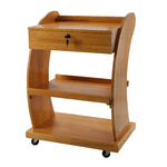 Aria Curved Beauty Trolley with Locking Drawer and 3 Shelves (1018A)