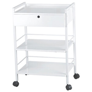 Nadja Beauty Trolley with Locking Drawer and 3 Shelves (1019A)