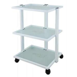 Benia 3 Shelf Metal and Glass Trolley (1040)