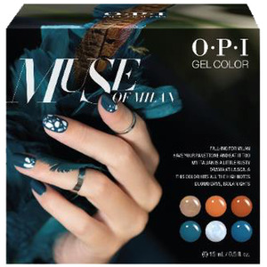 OPI GelColor Soak Off Gel Polish - GC295 Muse of Milan Add-On Kit #1 - 6 Pieces (GC295)