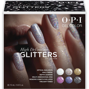 OPI GelColor - GC301 - High Definition Glitters Collection Add-On Kit - 6 Pieces (15476)