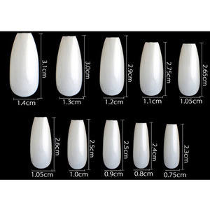 Cre8tion Nail Tips - #04 Short Almond - Natural Divider Box of 600 Pieces (22400 15163)