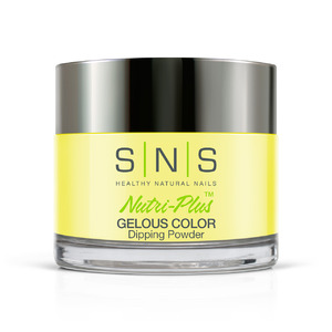 SNS GELous Color Dipping Powder - 1.5 oz - Bare to Dare Collection - #BD01 FASHIONISTA YELLOW (BD01)