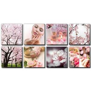 Canvas Murals - Pink Cherry Blossoms Ensemble (ALPINK)