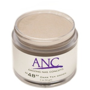 ANC Dip Powder - Dark Brown Tan #48 2 oz. - part of the ANC Acrylic Nails Dipping System (ANCCP048)