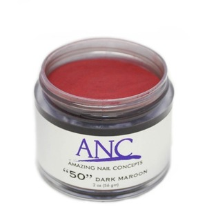 ANC Dip Powder - Dark Maroon #50 2 oz. - part of the ANC Acrylic Nails Dipping System (ANCCP050)