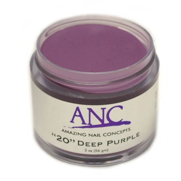 ANC Dip Powder - Deep Purple #20 2 oz. - part of the ANC Acrylic Nails Dipping System (ANCCP020)