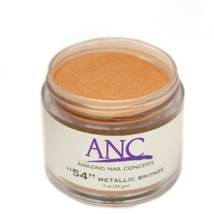 ANC Dip Powder - Metallic Bronze #54 2 oz. - part of the ANC Acrylic Nails Dipping System (ANCCP054)