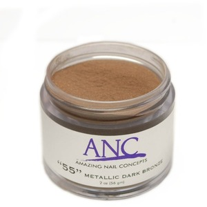ANC Dip Powder - Metallic Dark Bronze #55 2 oz. - part of the ANC Acrylic Nails Dipping System (ANCCP055)