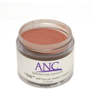 ANC Dip Powder - Metallic Dark Cherry #56 2 oz. - part of the ANC Acrylic Nails Dipping System (ANCCP056)