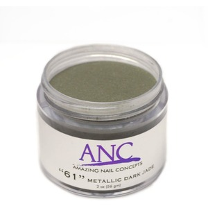 ANC Dip Powder - Metallic Dark Jade #61 2 oz. - part of the ANC Acrylic Nails Dipping System (ANCCP061)