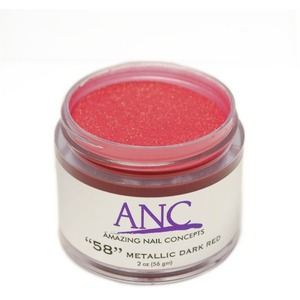 ANC Dip Powder - Metallic Dark Red #58 2 oz. - part of the ANC Acrylic Nails Dipping System (ANCCP058)