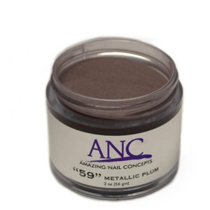 ANC Dip Powder - Metallic Plum #59 2 oz. - part of the ANC Acrylic Nails Dipping System (ANCCP059)