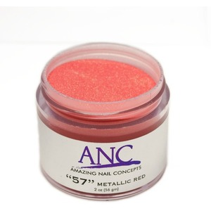 ANC Dip Powder - Metallic Red #57 2 oz. - part of the ANC Acrylic Nails Dipping System (ANCCP057)