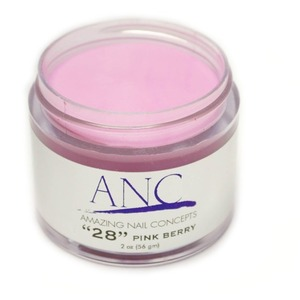 ANC Dip Powder - Pink Berry #28 2 oz. - part of the ANC Acrylic Nails Dipping System (ANCCP028)
