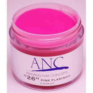 ANC Dip Powder - Pink Flamingo #26 2 oz. - part of the ANC Acrylic Nails Dipping System (ANCCP026)