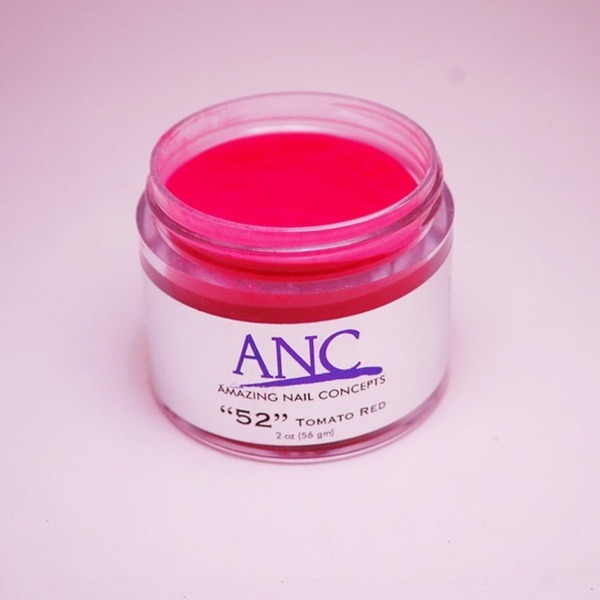 ANC Dip Powder - Tomato Red #52 2 oz. - part of the ANC Acrylic Nails Dipping System (ANCCP052)