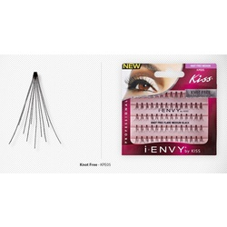iENVY Eyelash Extenstions - Medium Black Pack - 70 Flares (0731509535556)