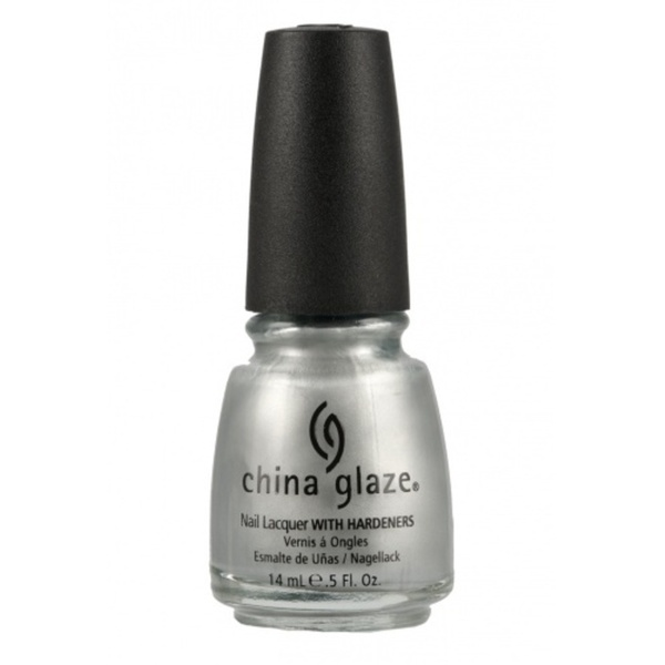 China Glaze Lacquer - PLATINUM SILVER 0.5 oz. - #627 (CG627)