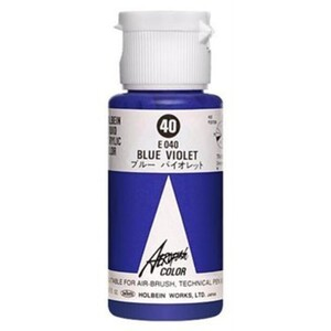 Aeroflash Liquid Acrylic Airbrush Nail Color - BLUE VIOLET #40 1.18 oz. (4900669060406)