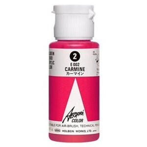 Aeroflash Liquid Acrylic Airbrush Nail Color - CARMINE #2 1.18 oz. (4900669060024)