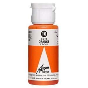 Aeroflash Liquid Acrylic Airbrush Nail Color - ORANGE #10 1.18 oz. (4900669060109)