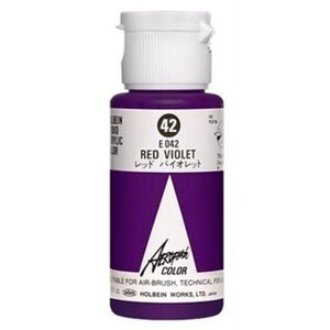 Aeroflash Liquid Acrylic Airbrush Nail Color - RED VIOLET #42 1.18 oz. (4900669060420)