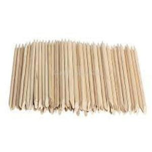 Orange Wood Sticks - Short - Dual Tip 50 Pack (917463003101)
